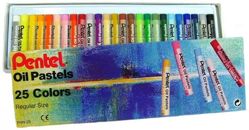Pentel Oil Pastels 25 Colour