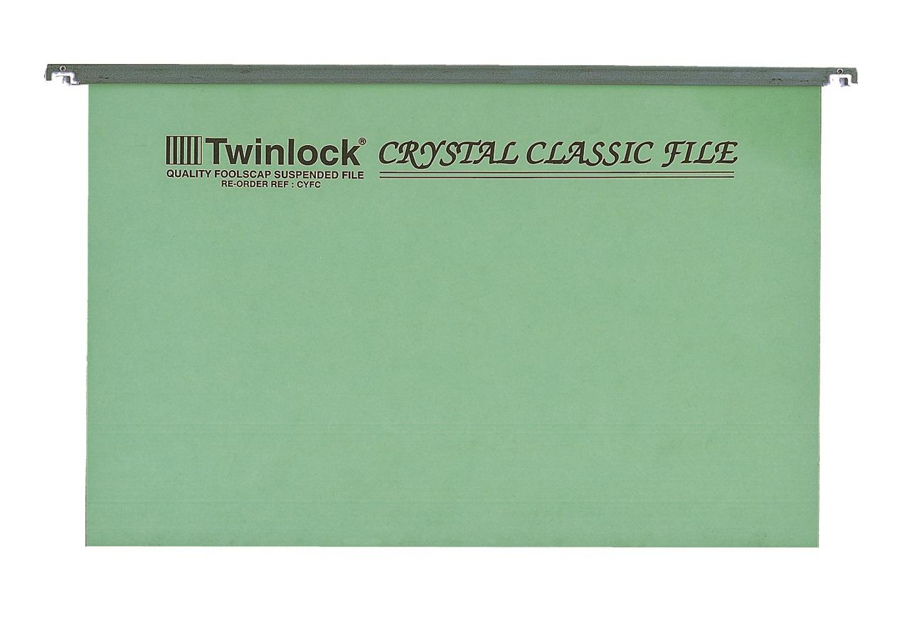 Twinlock Crystal Foolscap Suspension Files
