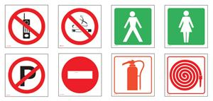 Tower No Smoking Sign 150mmx150mm