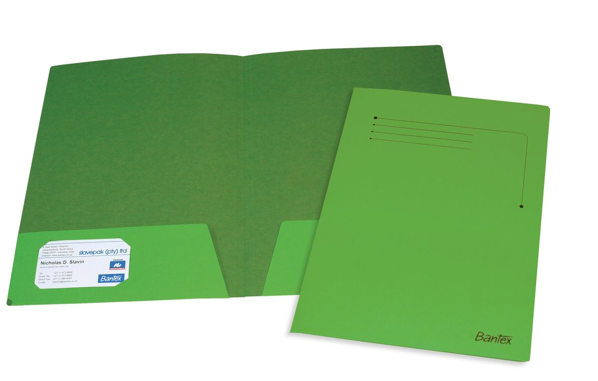 Bantex Presentation Folder A4 Grass Green