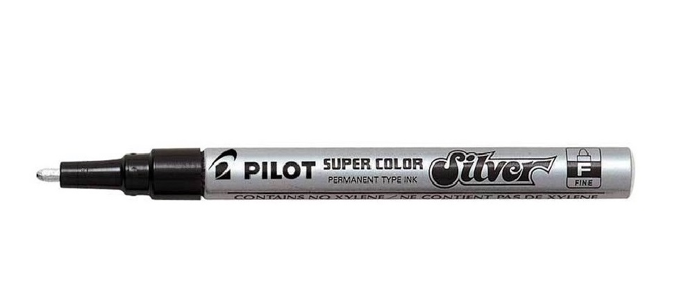 Pilot Super Colour Marker Fine Silver