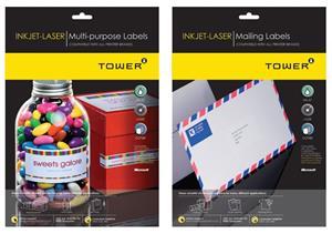 Tower Laser Label 38.5mmx29.88mm 45 100s