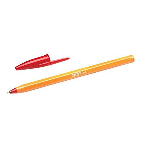 Bic Orange Red Fine Ballpoint Pen