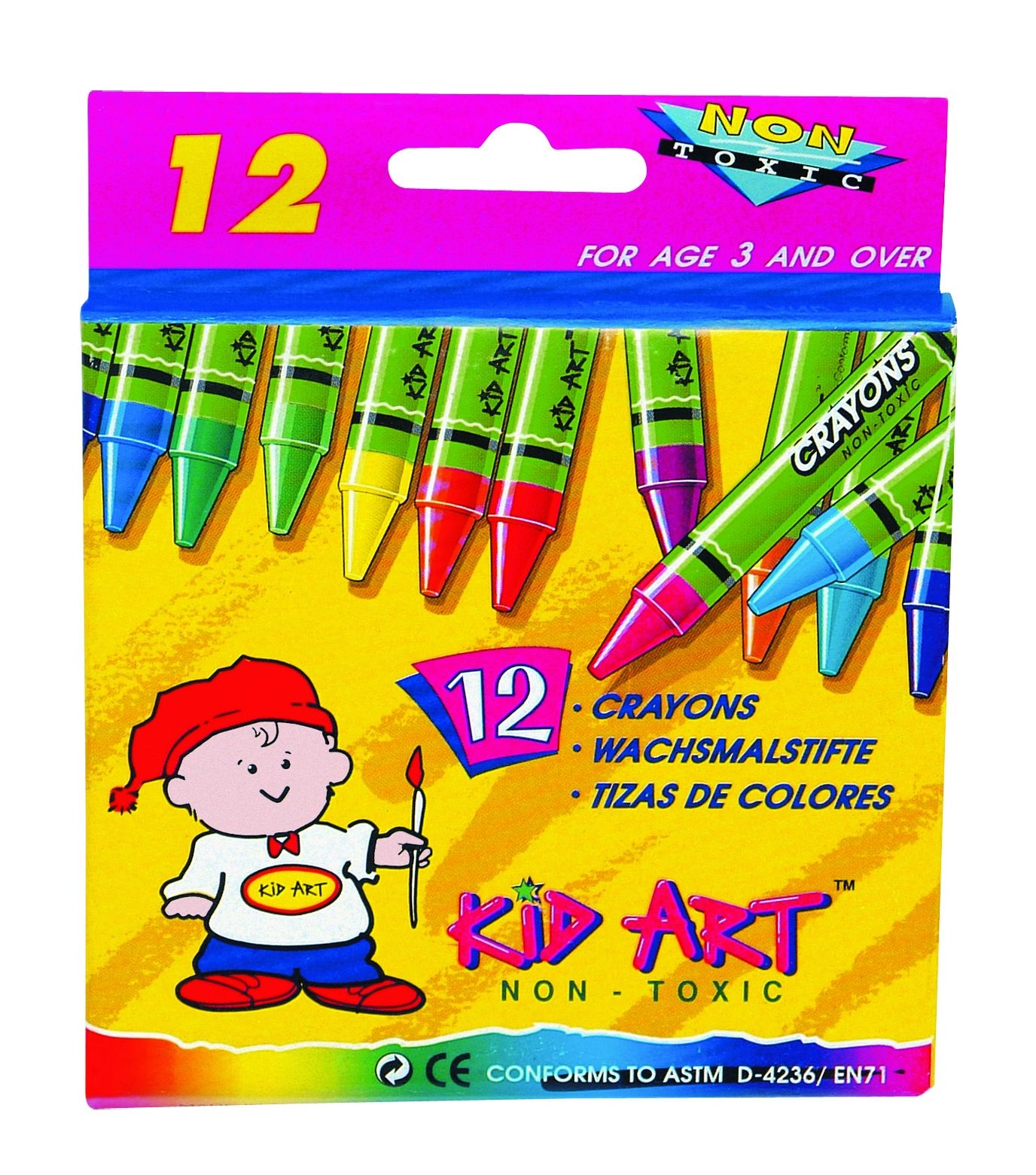 Kid Art Wax Crayons 12's