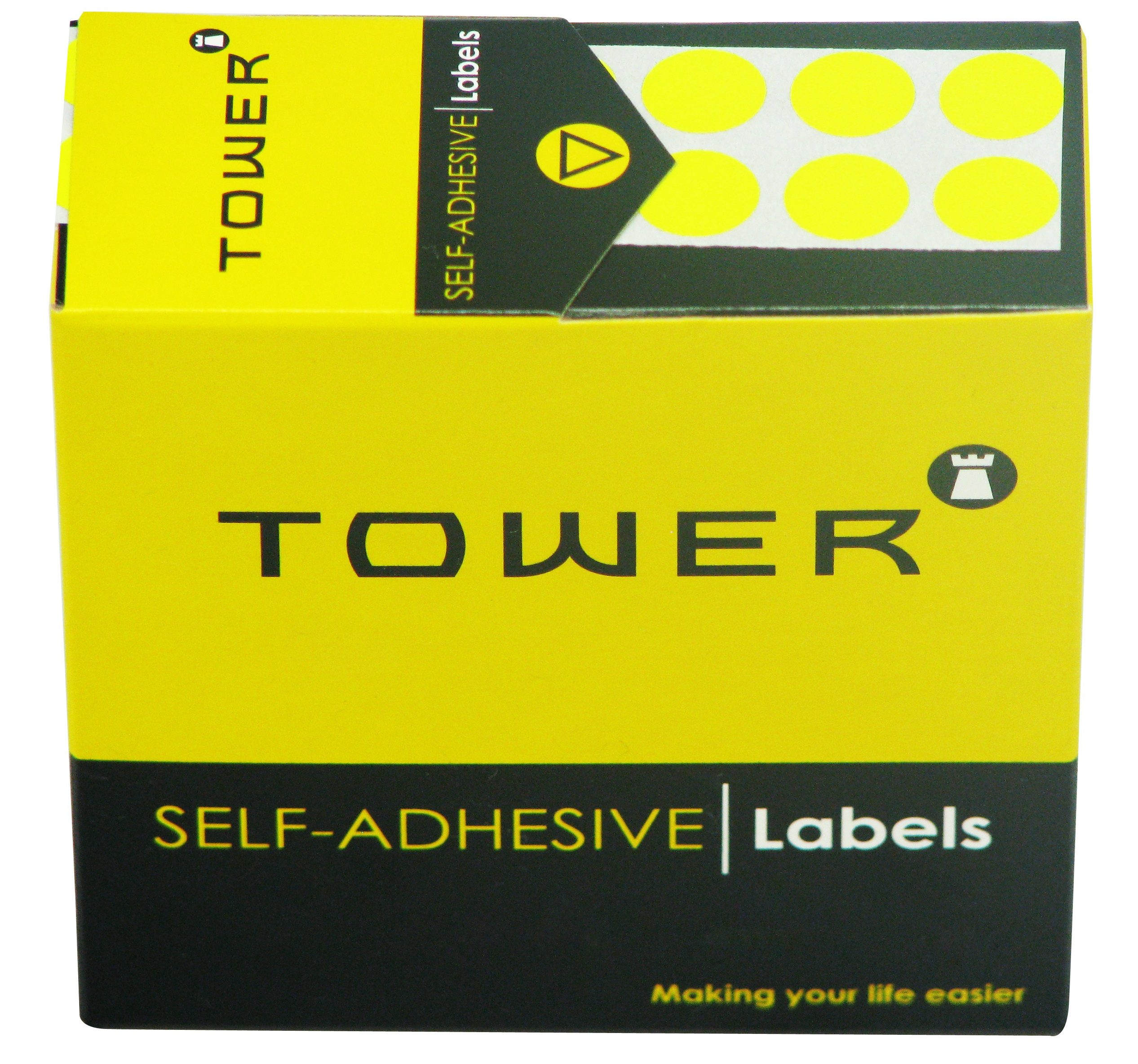 Tower C10 Label Flu Lime