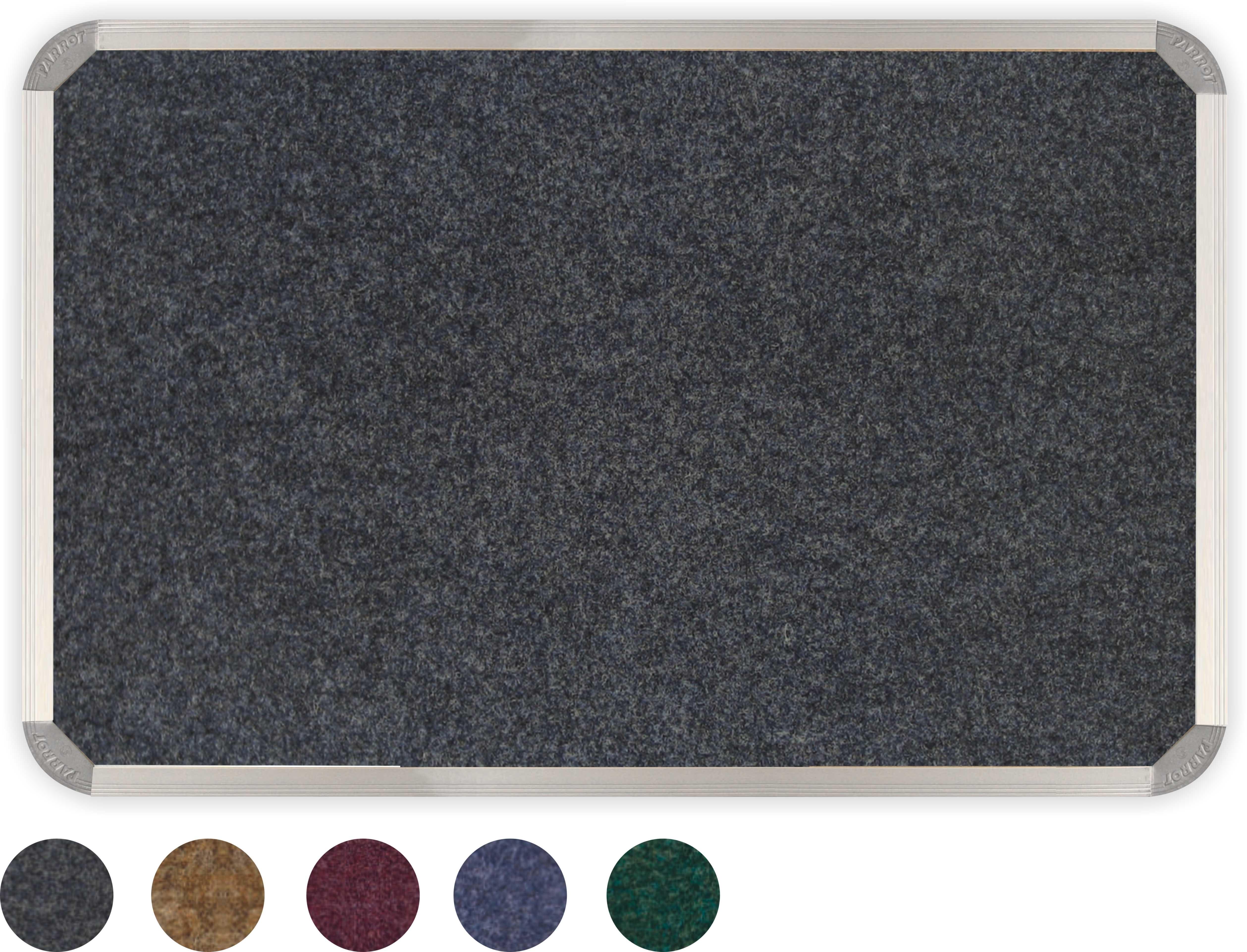 Parrot Bulletin Board Alum Frame 1200mmx900mmmm Denim