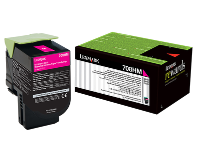 Lexmark 708hm Magenta High Yield Return Program Toner Cartridge