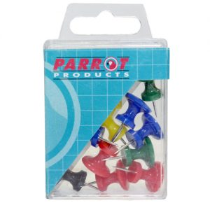 Parrot Thumb Tacks Boxed Pack 30 Assorted