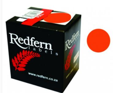 Redfern C19 Label Fluor. Red