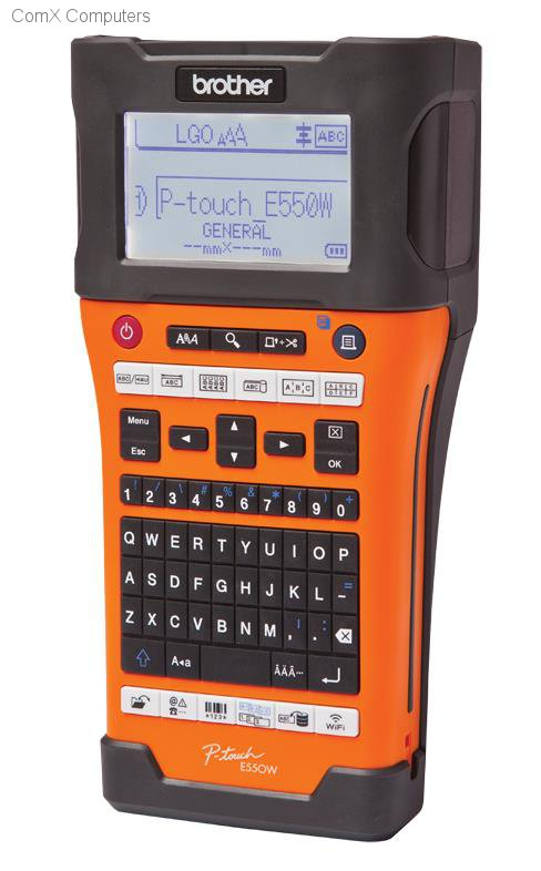 P-Touch E550WVP : Handheld/Mobile Printer, Wi-Fi enabled, 7 lines of print, P-Touch