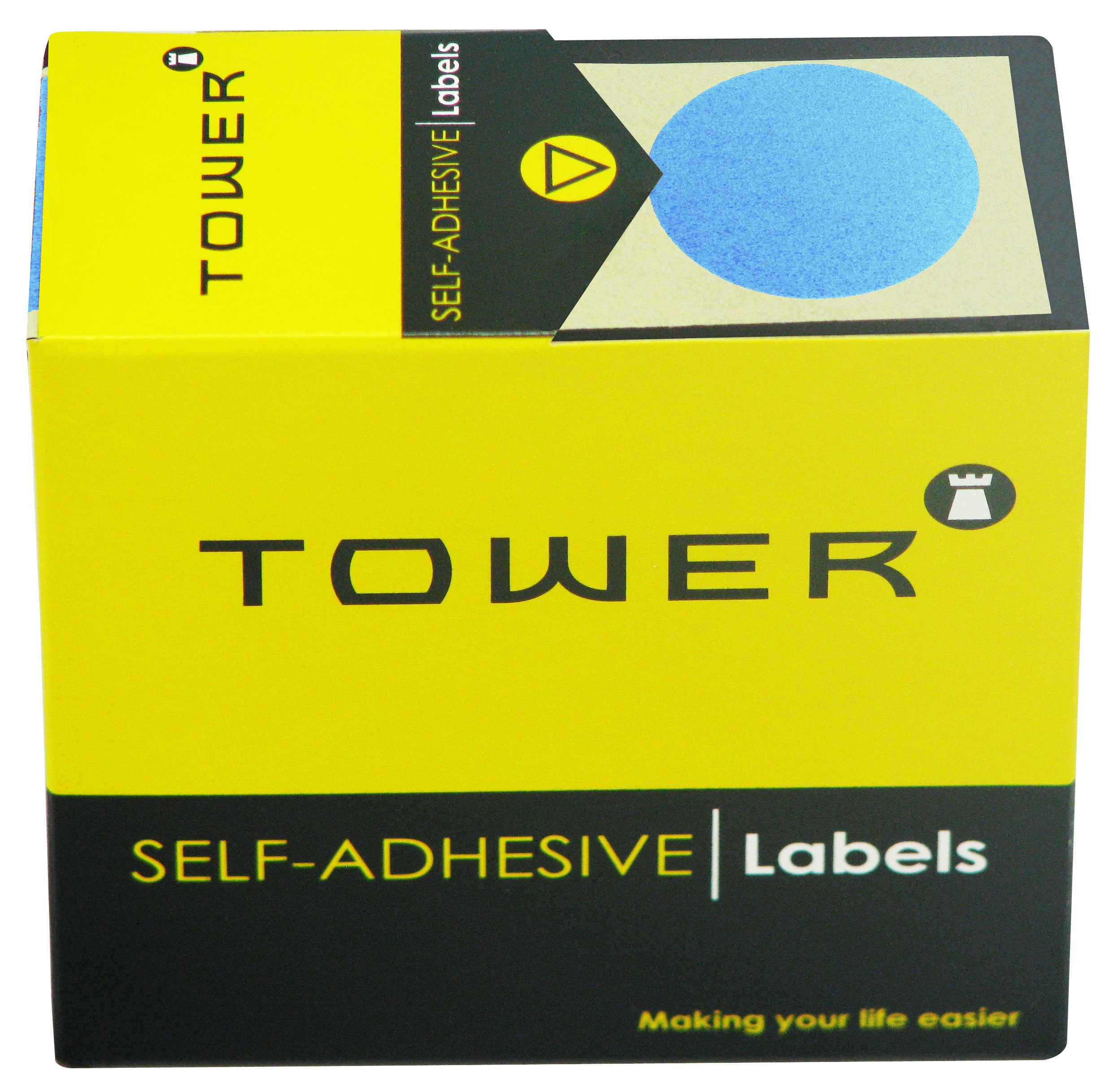 Tower C32 Label Light Blue