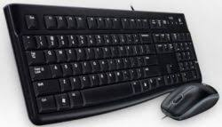 LOGITECH CORDED KEYBOARD AND MOUSE QUIET TYPING AND COMFORTABLE