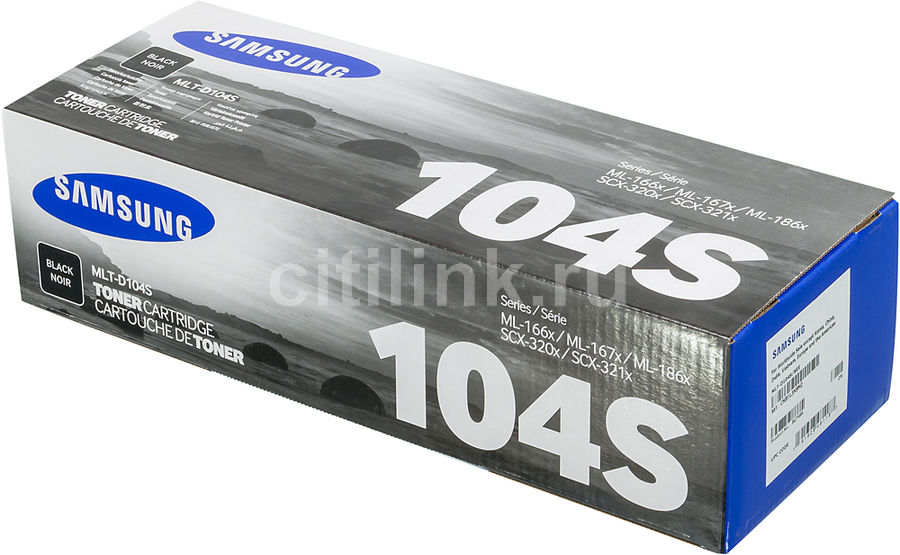 SAMSUNG MLT-D104S BLACK TONER CARTRIDGE FOR ML1660/1860/186