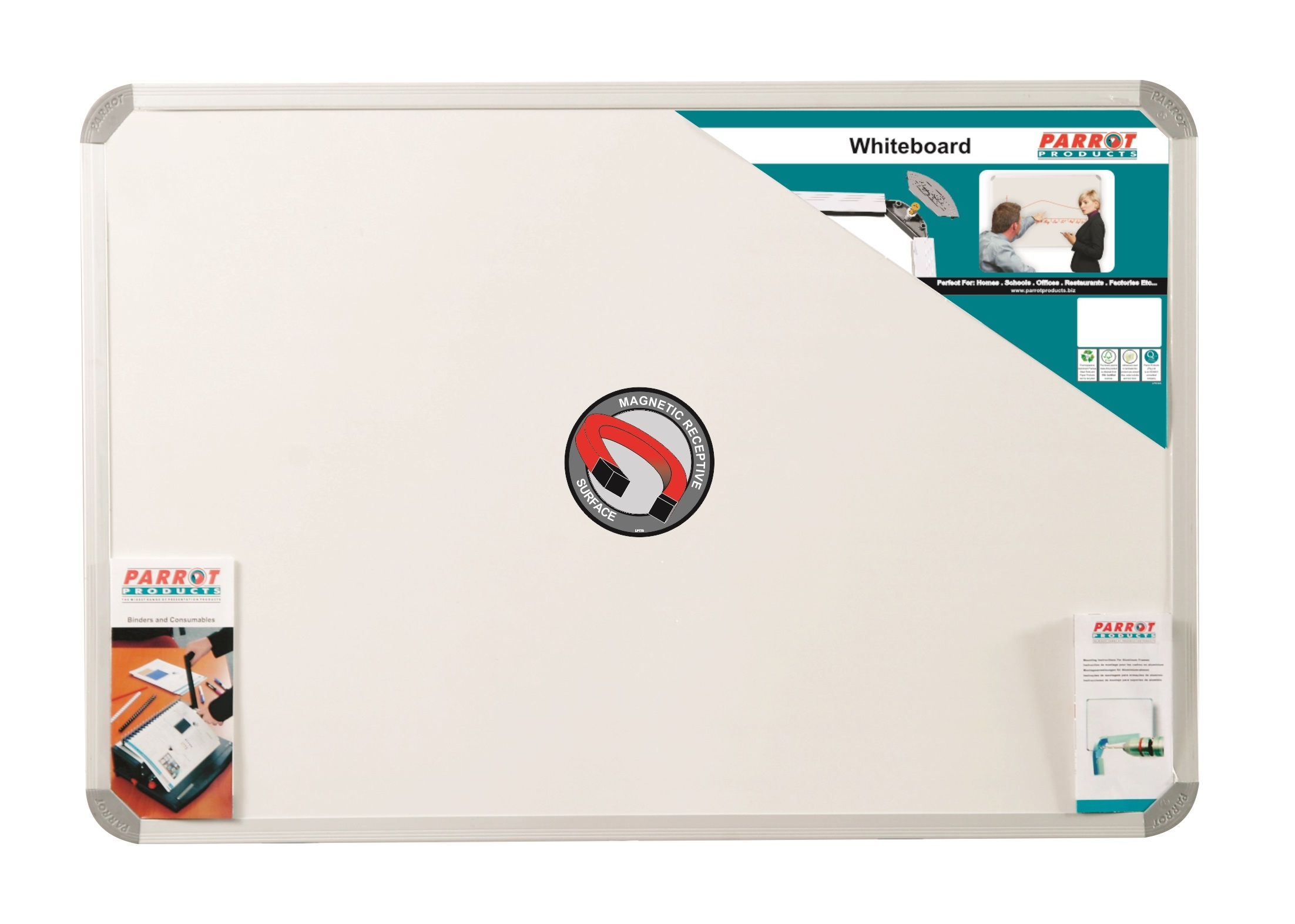 Parrot Whiteboard Magnetic 1200mmx900mm