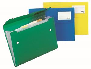 Bantex Polyprop Expander File 6 Pocket Clear