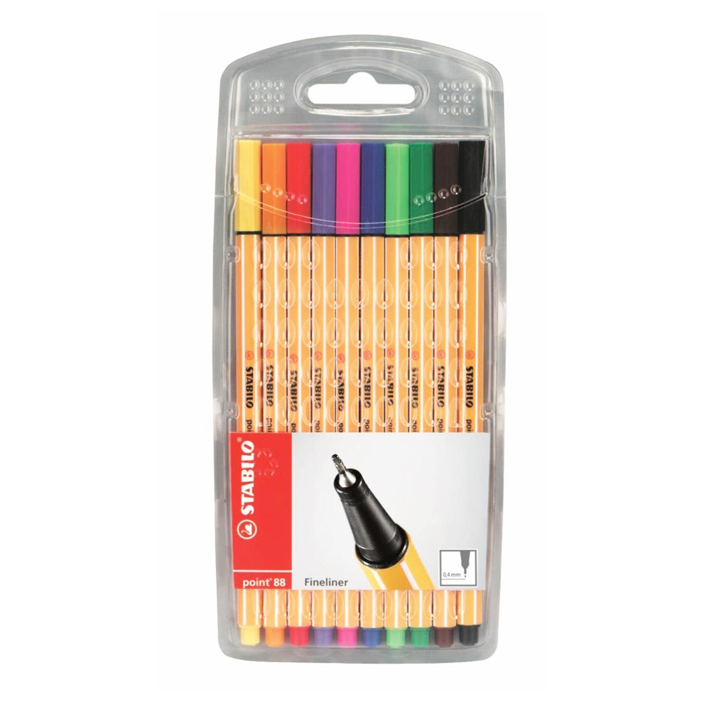 STABILO 88 Fineliner Set 10 Assorted 88-10