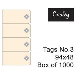 Croxley No.3 Buff Tag