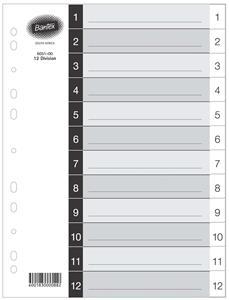 Bantex A4 1-12 Div Polyprop Index