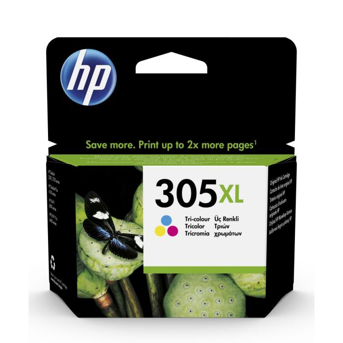 HP #305XL TRI-COLOUR ORIGINAL INK CARTRIDGE FOR HP DESKJET 2320/2710/2720/4120 (YIELD 240 PAGES)