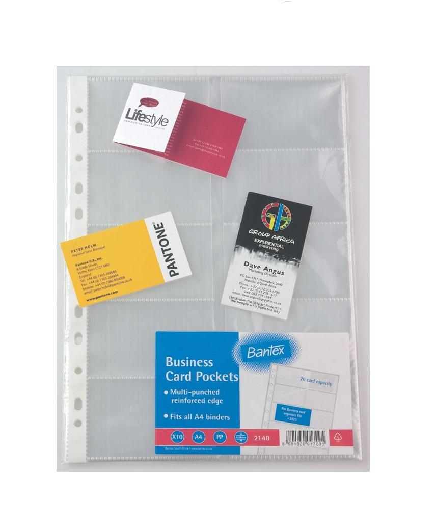 Bantex Bus. Card Pocket A4 10 Division