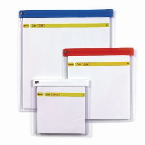 Rexel A4 Zip Bag Assorted