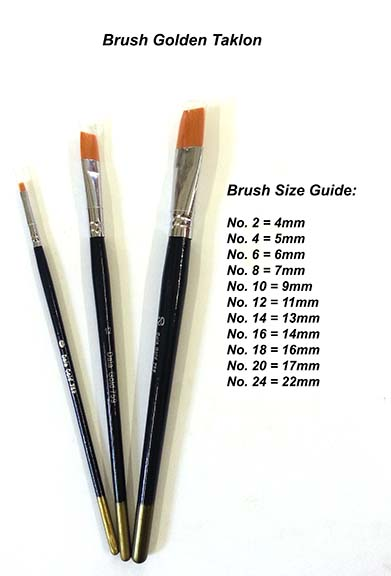 Paint Brush Flat No.12 - Taklon