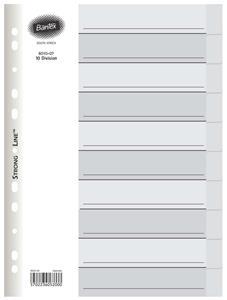 Bantex A4 10 Division White Brd