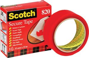 Secure Tape Red Rolls 35mmx33m