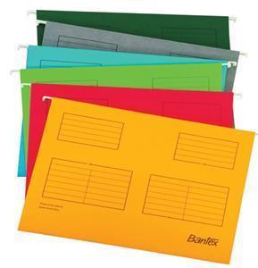 Bantex A4 Suspension File Yellow