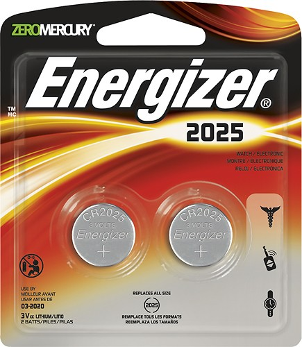 Energizer Battery CR2025 - 2 Pack