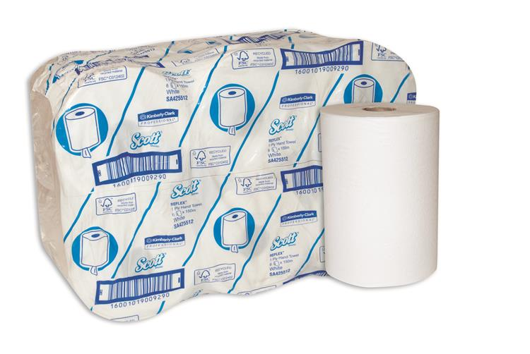 Scott Reflex Rolled (205mmx150m) Paper Hand Towels