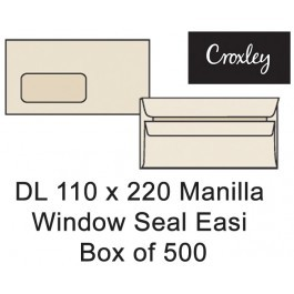 Croxley Envelopes Dl 110x220 Window Seal Easi