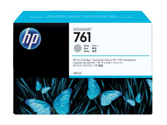 HP 761 400ML Grey Ink Cartridge/Designjet T7100