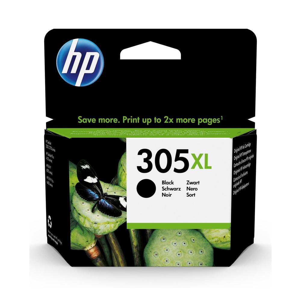 HP #305XL BLACK ORIGINAL INK CARTRIDGE FOR HP DESKJET 2320/2710/2720/4120 (YIELD 200 PAGES)