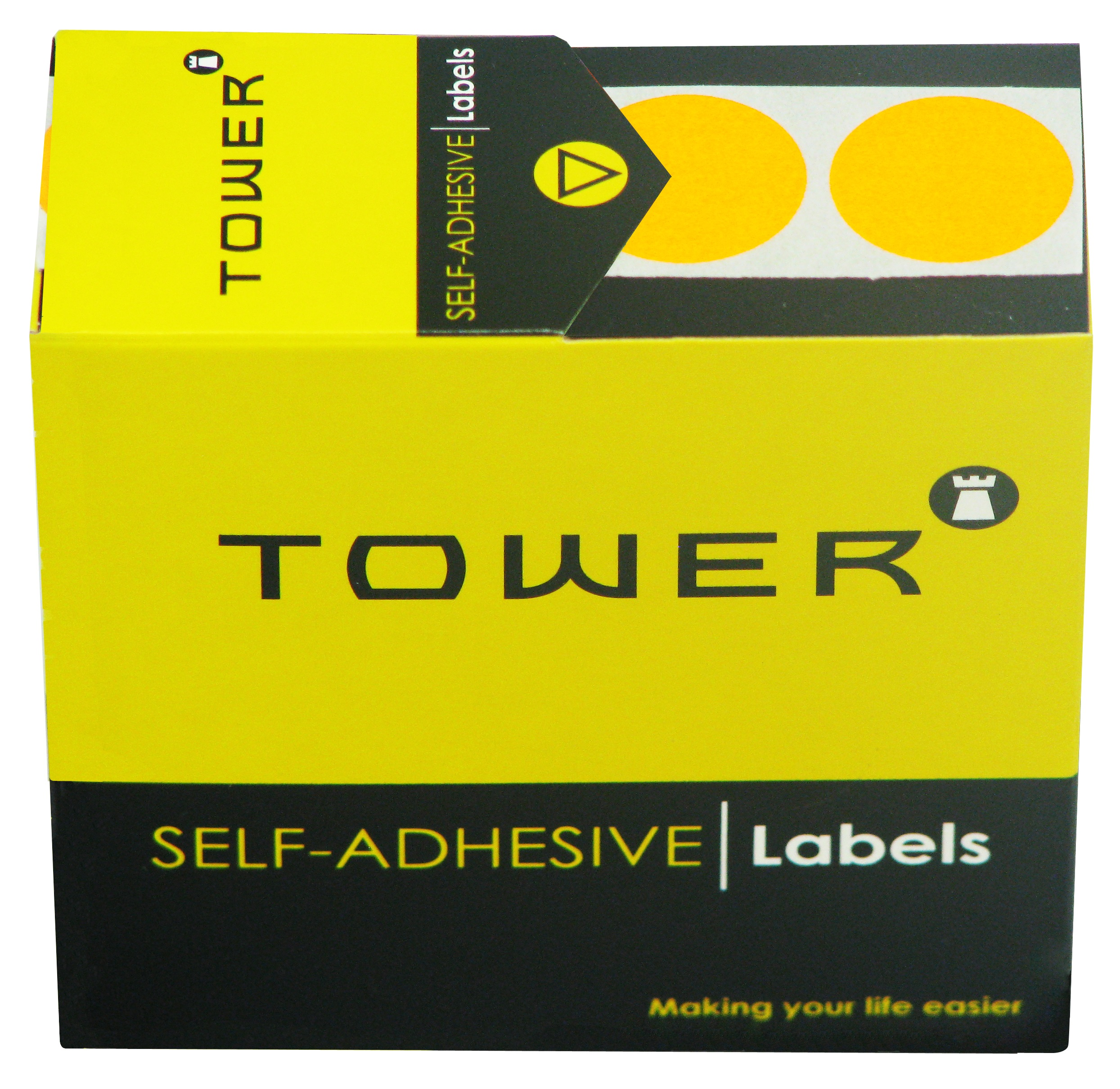 Tower C19 Label Flu Orange