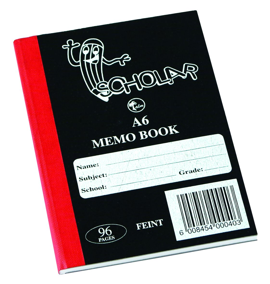 Memo Book A6 96PG Hard Cover