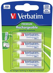 Verbatim AA Rechargeable Battery 4pack