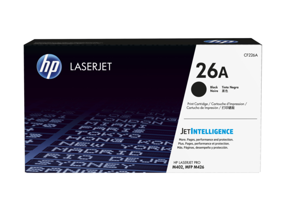 HP #26A BLACK TONER CARTRIDGE