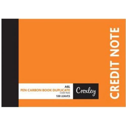 Croxley JD16CN A6 Credit Note Duplicate