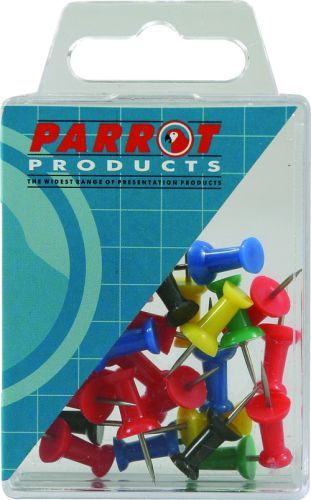 Parrot Thumb Tacks Carded Pack 25 Red