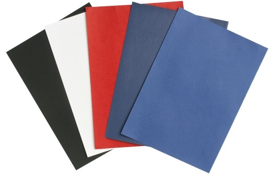 Rexel Leather Board Cover Red 100