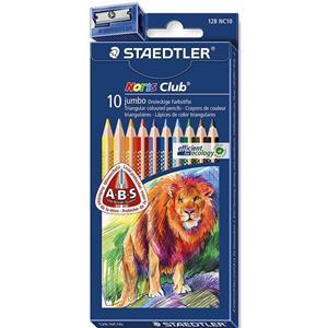 Staedtler 128NC10 T-Plus Jumbo 10's Colour Pencils