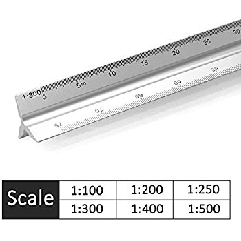 TECHNICAL DRAWING ARCHITECTS SCALE RULER-1:100-1:200-1:250-1:300-1:400-1:500