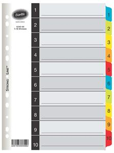 Bantex Index 1-12 Mylar Tabs