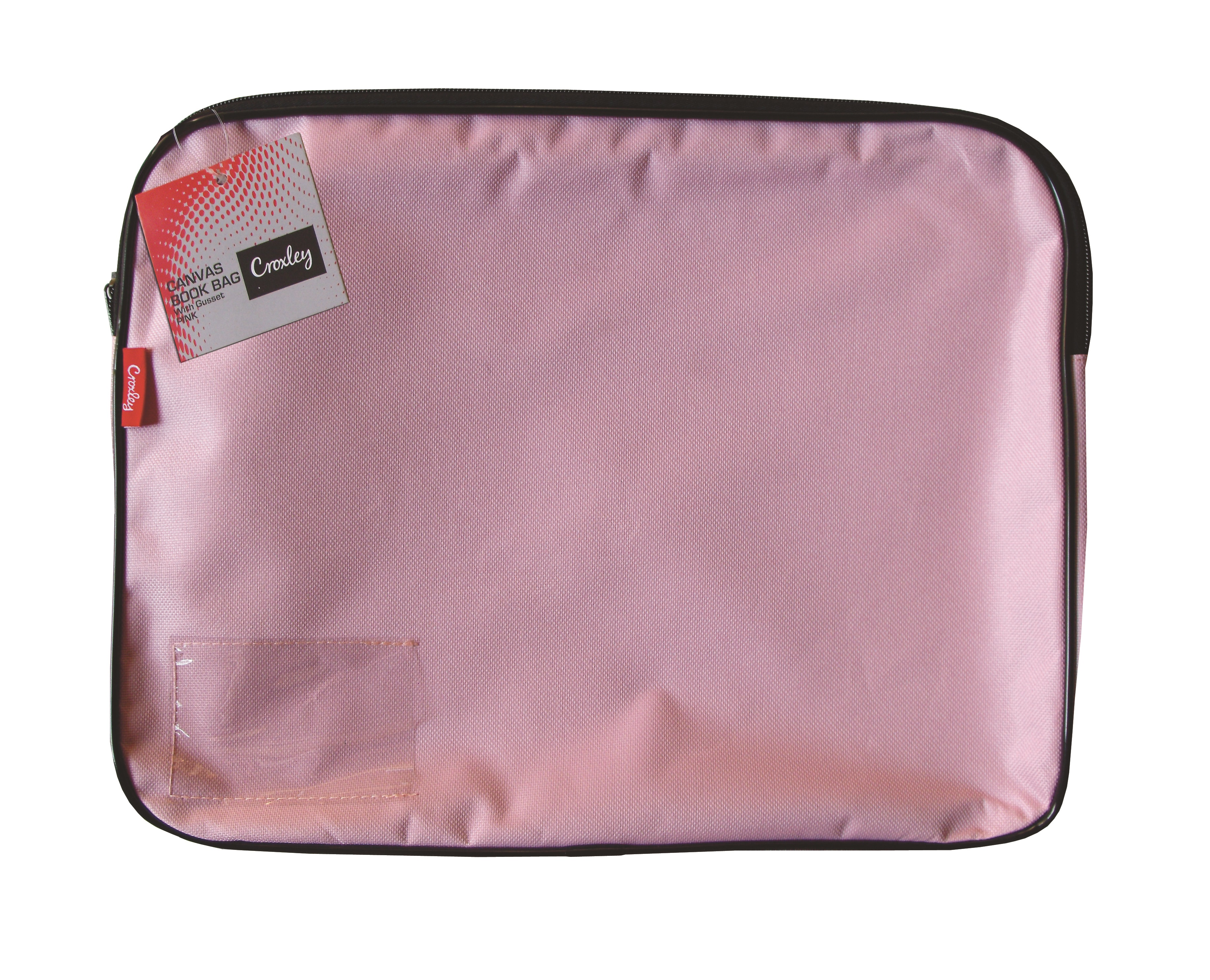 Croxley Canvas Gusset Book Bag Pink