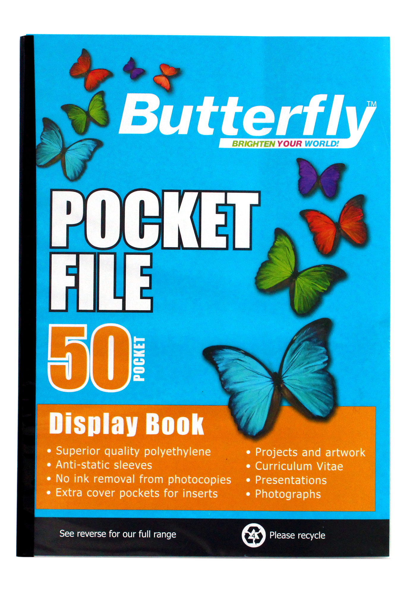 Butterfly Pocket File A4 50 Page