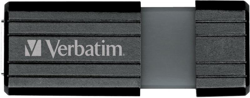Verbatim Store and Go Hi Speed Pinstripe Black 16GB Flash Drive