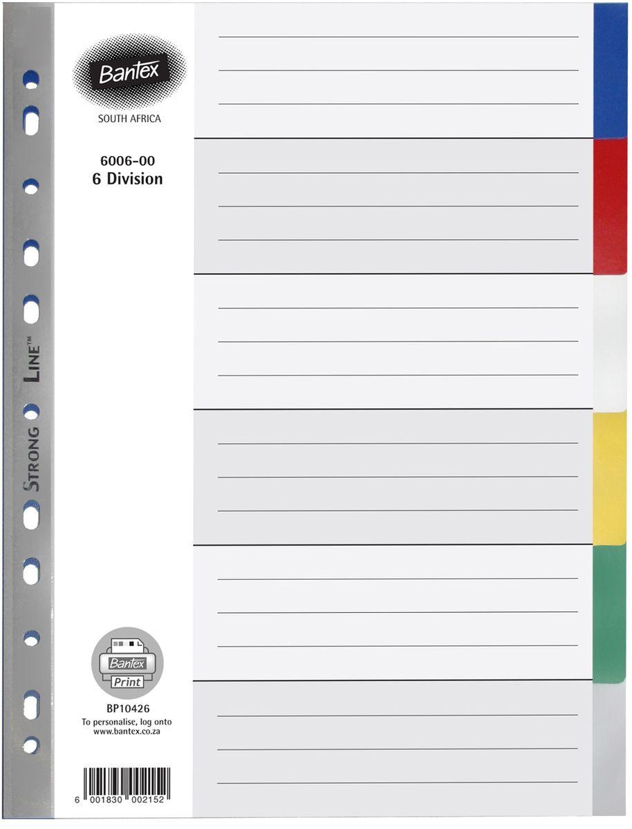 Bantex A4 6 Div Index 6 Colour