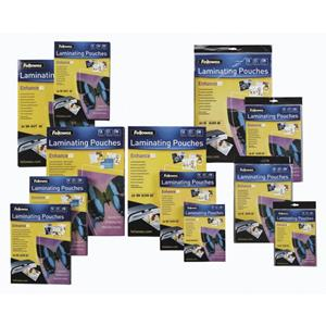 Fellowes 54x86 250mic Laminating Pouch 100'S
