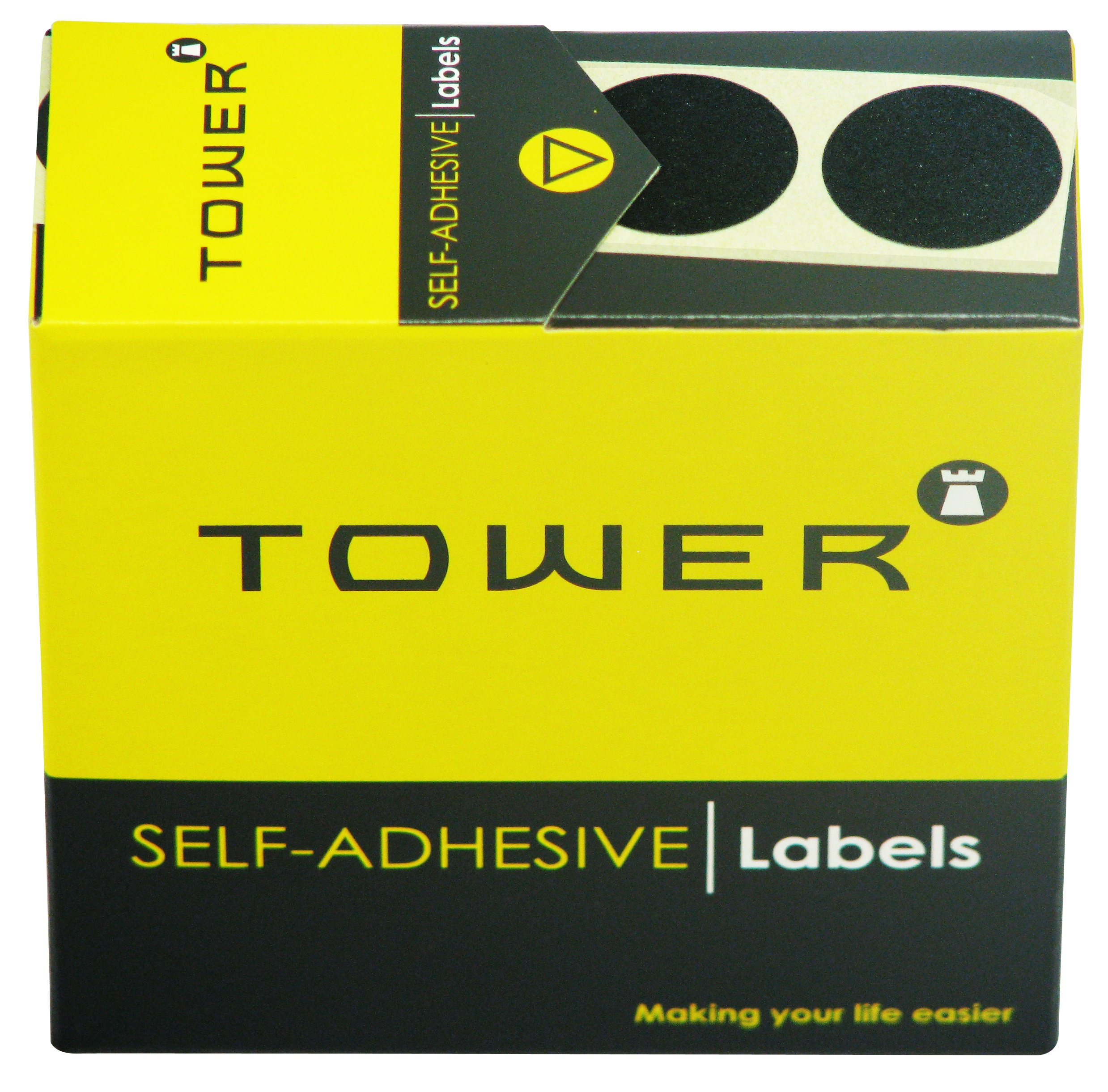 Tower C19 Label Black